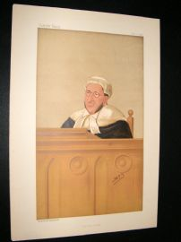 Vanity Fair Print 1888 Arthur Charles, Judge